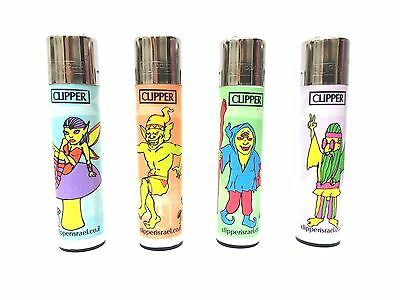 CLIPPER Forest New Serial 2014 Brand Full Size Many Refillable Lighters 4pcs
