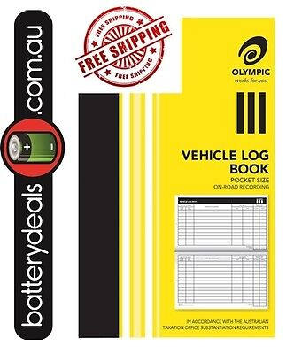 Olympic Pocket Vehicle Log Book 180 x 110mm 64 Page Car truck ATO requirements