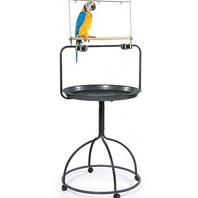 Parrot Bird Cage Perch Playland Activity Table Stand Treats Toys Exercise Fun