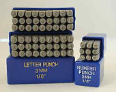 SUPPLY GUY 3mm Typewriter Font Metal Stamp Upper, Lower or Combo Letter Set
