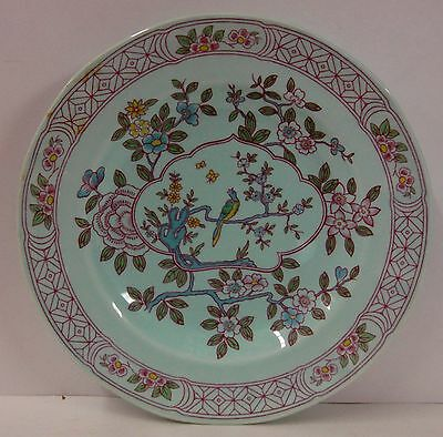 Adams China SINGAPORE BIRD Salad Plate BLACK BACKSTAMP 25% OFF More Available