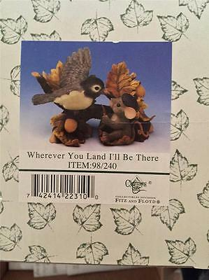 """Charming Tails """"wherever You Land I'll Be There"""" Figurine ~ Nib 98/240"""