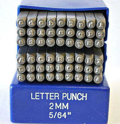 SUPPLY GUY 2mm Typewriter Font Metal Stamp Upper, Lower or Combo Letter Set
