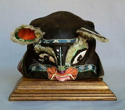 Antique Child's Chinese Tiger Hat Late Qing Dynasty Spirit Festival