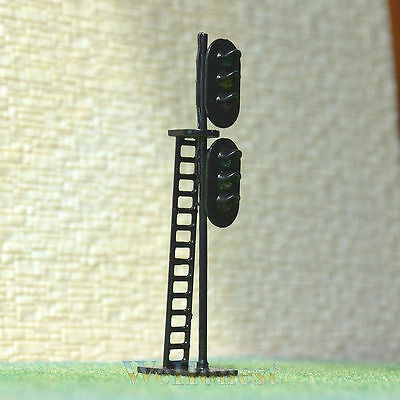 2 pcs HO/OO Scale LEDs Made dual heads Railway Signals 3 aspects over 3 aspects