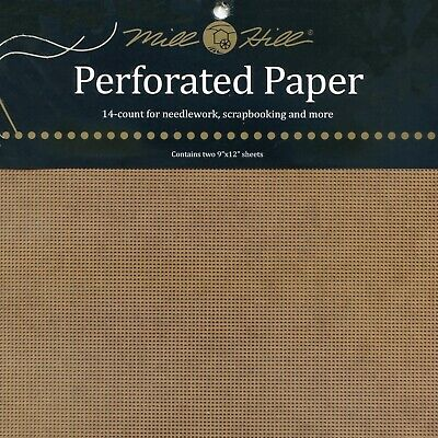 Antique Brown Perforated Paper Mill Hill 14 Count 9x12 inches