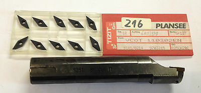 Bohrstange links S25T SVUCL 11 130mm lang incl. 10x WSP VCGT; T1130