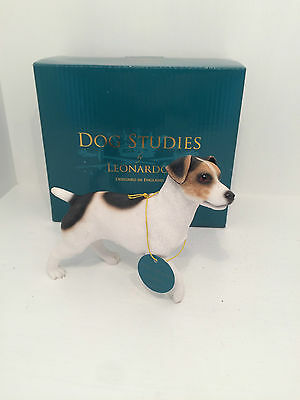 Dog Studies by Leonardo Jack Russell Terrier Figurine Ornament *BRAND NEW BOXED*