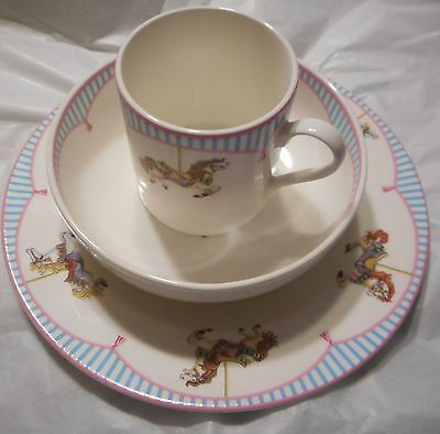 Tiffany & Co.  CAROUSEL Baby Child Set Plate Bowl Cup