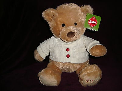 "Sears Christmas Plush 2013 Gund Bear named NATE 17"" W/Tags"