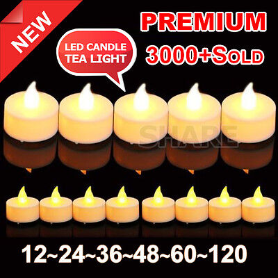 OZ Candles Tealight Led Tea Light Flameless Flickering Wedding Battery Included