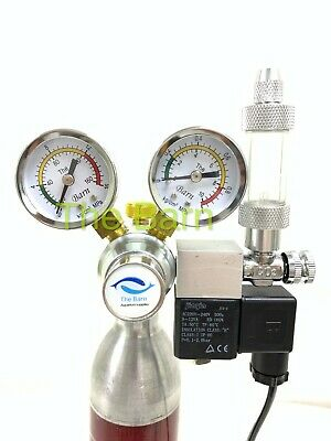 The barn Co2 regulator magnetic solenoid valve two gauge planted aquarium UK