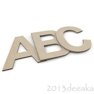 Hanging MDF Wooden Letters & Numbers Alphabet Arial Letters & Numbers, 4mm Thick