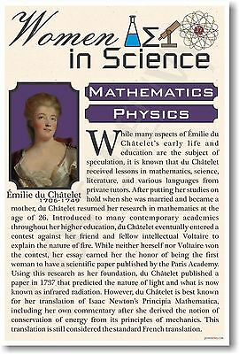 Emile Du Chatelet - High School - NEW Famous Women In Science Poster (fp313)