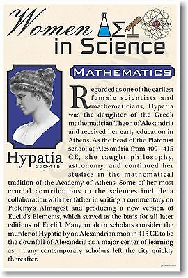 Hypatia - High School - NEW Famous Women In Science Poster (fp315)