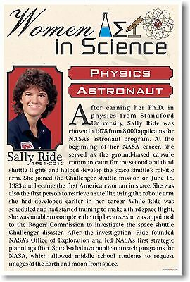 Sally Ride - NEW Famous Women In Science Poster (fp318)