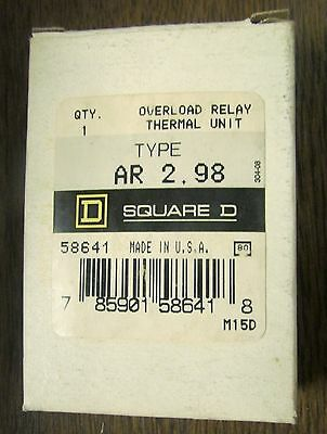 NEW BOX OF 6 SQUARE D AR 23.0 THERMAL OVERLOAD HEATERS