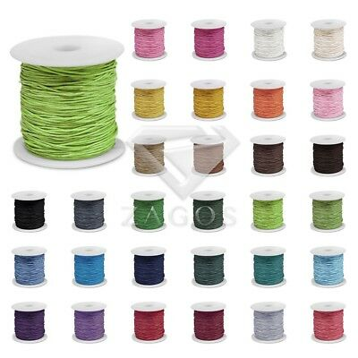 80m/Roll DIY Waxed Cotton Roll Cord Beading Macrame String Jewelry 0.5/1/1.5/2mm