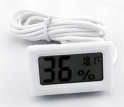 Digital Thermometer Hygrometer Humidity Monitor Probe for Egg Incubator Poultry