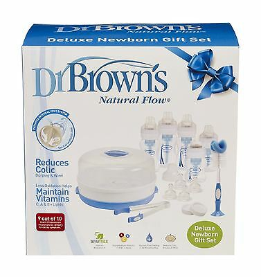 Dr Brown Deluxe Newborn Baby Feeding Gift Set - Bottles
