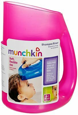 Munchkin Baby Toddler Soft Rim Shampoo Hair Rinser - Keep Water Out of Eyes Pink
