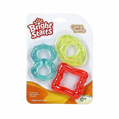 Bright Starts Chill & Teethe Teether Set - Super Soft Baby Teething Toy Pacifier