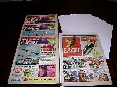 SIZE K. 100 x BACKING BOARDS FOR TV CENTURY 21 AND 1950'S EAGLES ETC