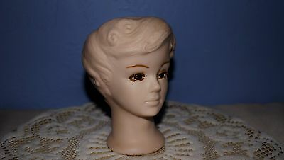 """Vintage Napco (?) Head Vase Signed 5 1/2"""" Tall Resembles Jacqueline Kennedy"""