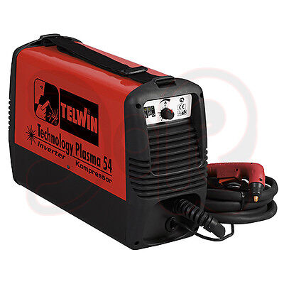 Plasma Cutter Device Telwin Plasma 54 Inverter with Compressor