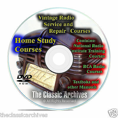 Antique Radio Servicemans Repair Home Study Course, Manuals, Restore CD DVD B75