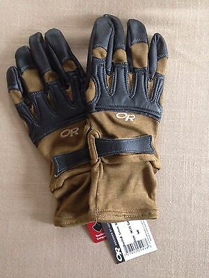 NEW! $130 Outdoor Research OR Rockfall Sensor Tactical Gloves. Made In USA. Sz L