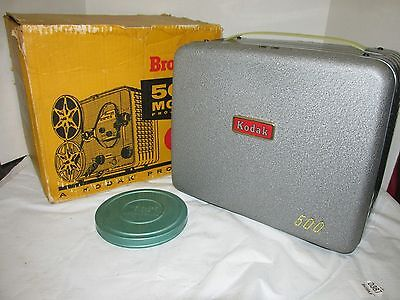 Vintage Kodak Brownie 500 Model A 8mm Movie Projector with Box Nice! LQQK1