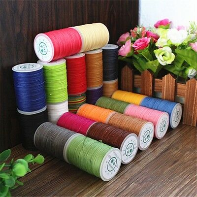20 Color Set Waxed Polyester Thread Necklace Cords 0.8mm Craft Wax Thread 85yad