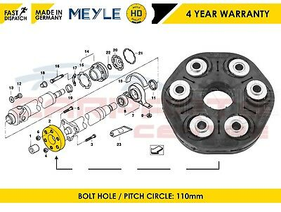 For Bmw Centre Propshaft Joint Mount Meyle Germany 2 Years Warranty 26117542238