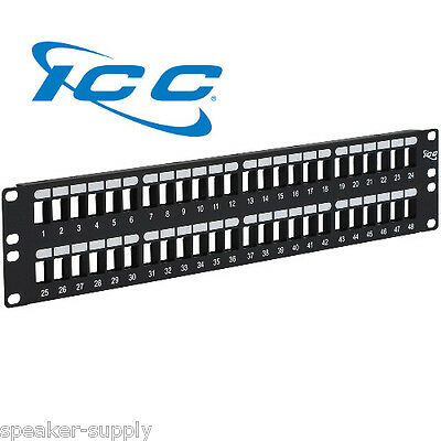 IC107BP482 ICC 48 Port Blank Patch Panel Keystone 2 RMS Flush Mount Rack Mount