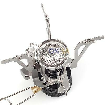 Mini Portable Backpacking Outdoor Gas Butane Propane Canister Camp Stove Burner