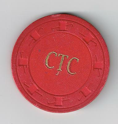 CTC HARD TO FIND $5.00 GAMING CHIP LISTED AS CRUISE LINE CHIP GAMING TABLE BOOK!