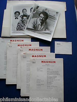 MAGNUM  TV Series  - Tom Selleck   MCA TV  - U.S. Promotional Press Kit 1981/82