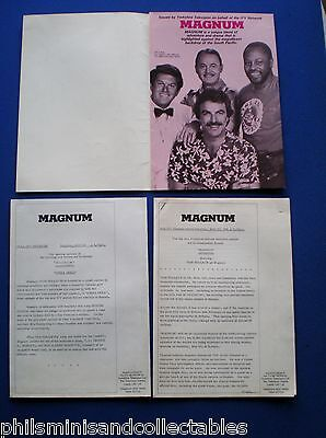 MAGNUM  TV Series  - Tom Selleck  UK. Promotional Press Kit 1981