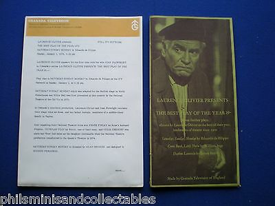 Laurence Olivier Presents - UK. Granada TV Promotional Press Kit 1977