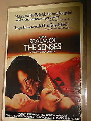 IN THE REALM OF THE SENSES ORIGINAL US ONE-SHEET MOVIE POSTER EROTIC SEX