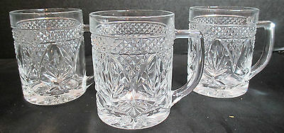 Cristal D'Arques Durand Set of 3 Crystal Coffee Mugs