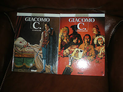 Giacomo C - Lot Des Tomes 2 Et 3 - Glenat Collection Vecu - Dufaux Griffo