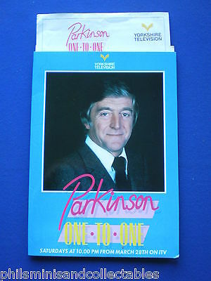 Parkinson - One to One  Yorkshire TV  Promotional Press item 1987
