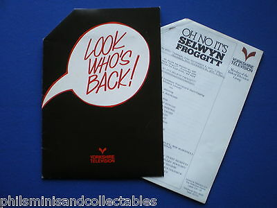Oh No It's Selwyn Froggitt   Yorkshire TV  Promotional Press folder 1977