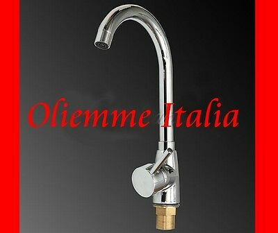 Miscelatore Rubinetto Monocomando Lavello Cucina Canna Alta Cromato New Model