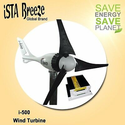 12V KIT Offer ISTA-BREEZE®  i-500 Small WIND GENERATOR + Charge Controller