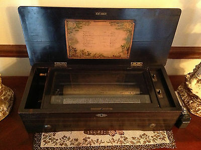 Very Large Antique Swiss 10 Tune Music Box
