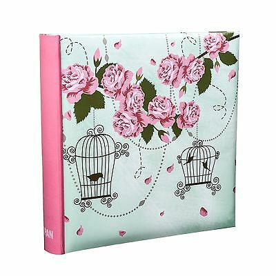 Vintage Rose Large 6x4 Photo Album Holds 200 Photos Slip In Case Memo  - BL200
