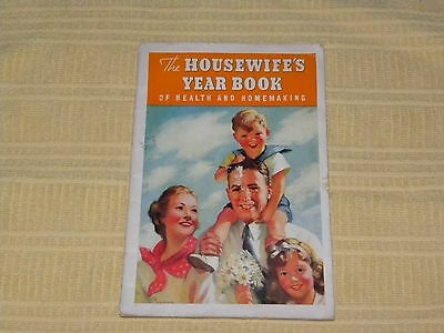 Vintage 1937 The Housewife's Year Book Health & Homemaking Kellogg Co Recipes